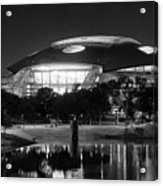 Dallas Cowboys Stadium Bw 032115 Acrylic Print