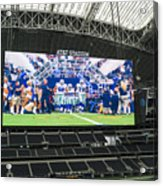 Dallas Cowboys Take The Field Acrylic Print