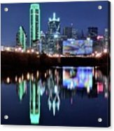 Dallas Dark Blue Night Acrylic Print