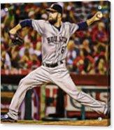 Dallas Keuchel Baseball Acrylic Print