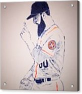 Dallas Keuchel Give Thanks Acrylic Print
