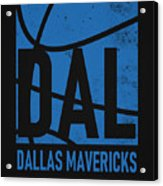 Dallas Mavericks City Poster Art Acrylic Print