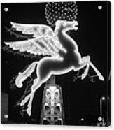 Dallas Pegasus Bw 121517 Acrylic Print