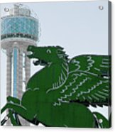 Dallas Pegasus Reunion Tower Green 030518 Acrylic Print