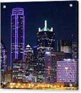 Dallas Purple Night 71417 Acrylic Print