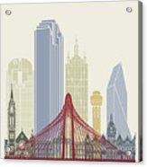 Dallas Skyline Poster Acrylic Print