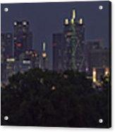 Dallas Trinity River Panorama Acrylic Print
