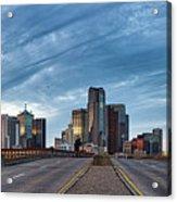 Dallas View At Dusk Acrylic Print