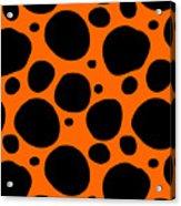 Dalmatian  Black Pattern 03-p0173 Acrylic Print