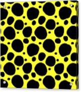 Dalmatian  Black Pattern 05-p0173 Acrylic Print