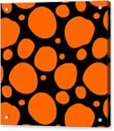 Dalmatian Pattern With A Black Background 03-p0173 Acrylic Print
