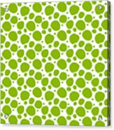 Dalmatian Pattern With A White Background 09-p0173 Acrylic Print