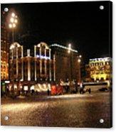 Dam Square Late Night - Amsterdam Acrylic Print