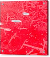Damaged Red Metal Acrylic Print