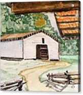 Dan Lawson Barn Acrylic Print