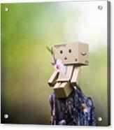 Danbo - Flower Acrylic Print