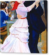 Dance At Bougival After Renoir Acrylic Print