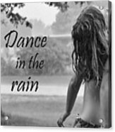 Dance In The Rain Acrylic Print