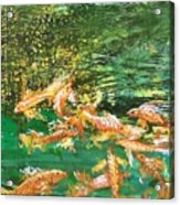 Dance of Golden Angels Acrylic Print