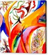 Dance Of Shaman Acrylic Print