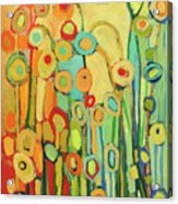 Dance Of The Flower Pods Acrylic Print by Jennifer Lommers