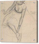 Dancer Adjusting Her Slipper Acrylic Print