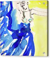 Dancer In Blue Acrylic Print