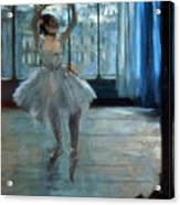Dancer In Front Of A Window Acrylic Print