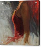 Dancer In Rim Lighting Acrylic Print by Anna Rose Bain