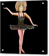 Dancer in the Black Tutu Acrylic Print