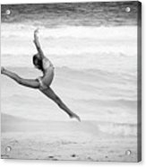 Dancer On Beach Acrylic Print