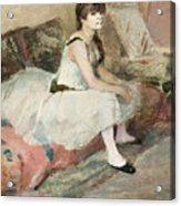 Dancer Seated On A Pink Divan 1884 Acrylic Print