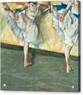 Dancers At The Bar Acrylic Print by Edgar Degas