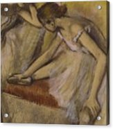 Dancers In Repose Acrylic Print by Edgar Degas