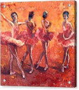 Dancers In The Flame Acrylic Print