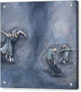 Dancers Acrylic Print by Michelle Iglesias