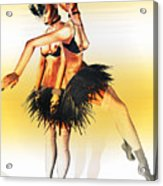 Dancers Acrylic Print by Theda Tammas