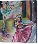 Dancing Ballerinas Acrylic Print by Khatuna Buzzell