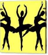 Dancing Ballerinas Silhouette Acrylic Print