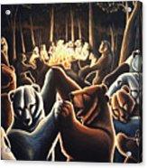 Dancing Bears Painting Acrylic Print
