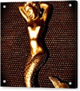 Dancing Bronze Mermaid Acrylic Print