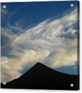 Dancing Clouds Above Volcanic Peak Acrylic Print