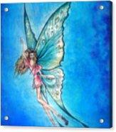 Dancing Fairy In Blue Sky Acrylic Print
