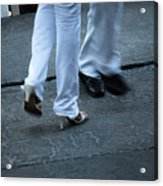 Dancing Feet At The Dominican Republic Son Party Number One Acrylic Print