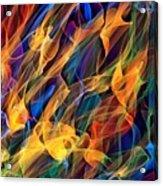 Dancing Flames Acrylic Print