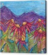 Dancing Flowers Acrylic Print