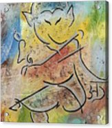 Dancing Ganesha Acrylic Print
