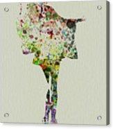 Dancing Geisha Acrylic Print by Naxart Studio