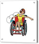 Dancing Girl In A Wheelchair Acrylic Print