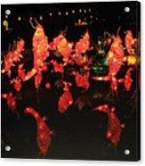 Dancing Goldfish Pond At Night Acrylic Print